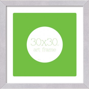 30x30cm Art Frame Brushed Aluminium