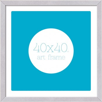 40x40cm Art Frame Brushed Aluminium