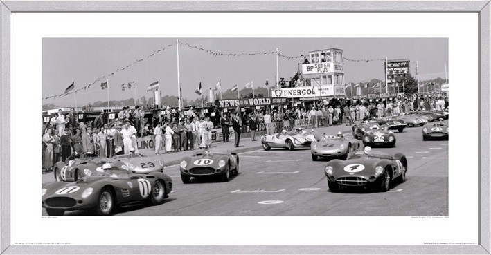 Tourist Trophy (TT), Goodwood, 1959 - Framed Print