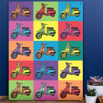 LAMBRETTA POP ART WALL SIGN