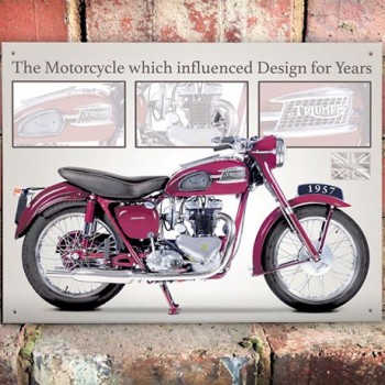 TRIUMPH SPEED TWIN WALL SIGN
