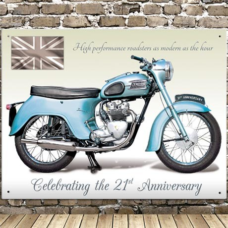 TRIUMPH TWENTY ONE 3TA WALL SIGN