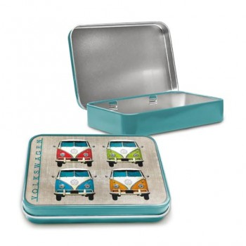 VW CAMPER COLOUR QUAD KEEPSAKE TIN