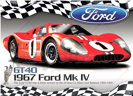 FORD GT40 WALL SIGN