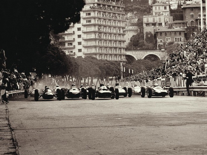 Monaco Grand Prix 1962 - Canvas print