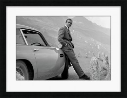 Sean Connery in Goldfinger- Framed print