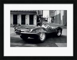 Steve McQueen Jaguar - Framed print