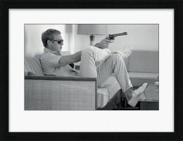 Steve McQueen Takes Aim - Framed print